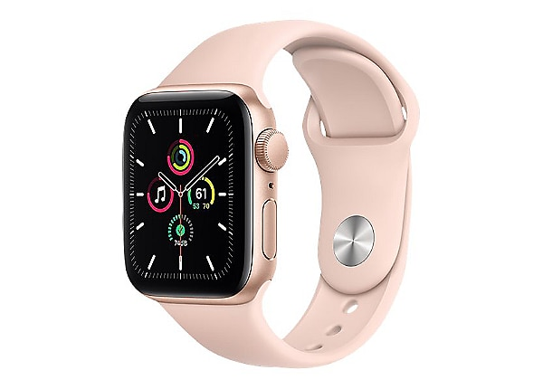 Apple Watch SE (GPS) - gold aluminum - smart watch with sport band - pink s