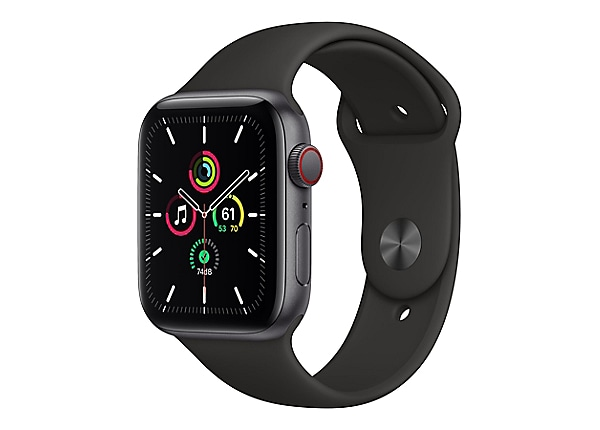 Apple Watch SE (GPS + Cellular) - space gray aluminum - smart watch with sp