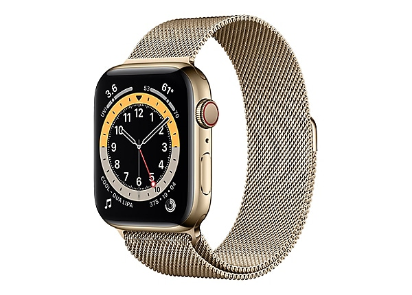 Apple Watch Series 6 (GPS + Cellular) - gold stainless steel - smart watch