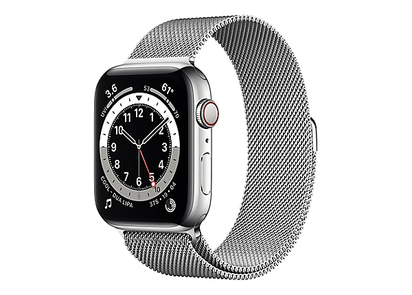 Apple Watch Series 6 (GPS + Cellular) - silver stainless steel - smart watc