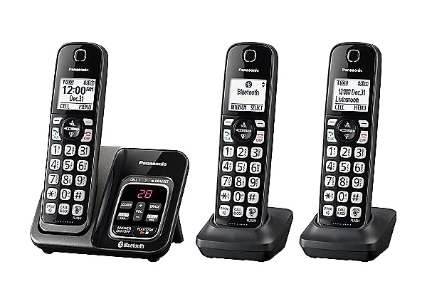 Panasonic Link2Cell KX-TGD563 - cordless phone - answering system - with Bl