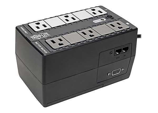Tripp Lite UPS 350VA 180W Desktop Battery Back Up Compact 120V DB9 RJ11 PC