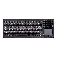iKey SLK-97-TP-BLK - keyboard - with 2-button touchpad