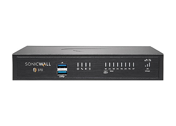 SonicWall TZ370 - Advanced Edition - security appliance - with 1 year Total