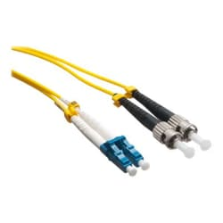 Axiom LC-ST Singlemode Duplex OS2 9/125 Fiber Optic Cable - 20m - Yellow -