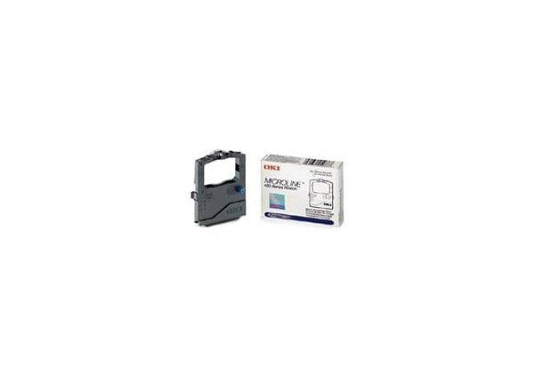 OKI - black - print ribbon cassette