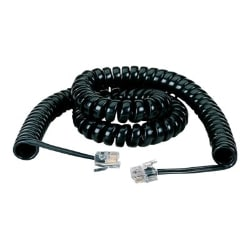 Black Box Telephone Handset Cord Coiled, 12-ft. - phone line cable - 12 ft