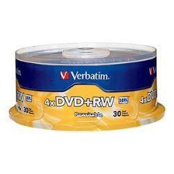 Verbatim - DVD+RW x 30 - 4.7 GB - storage media