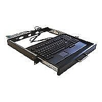 "Adesso 19"" 1U Rackmount Keyboard Drawer with built-in Touchpad Keyboard"