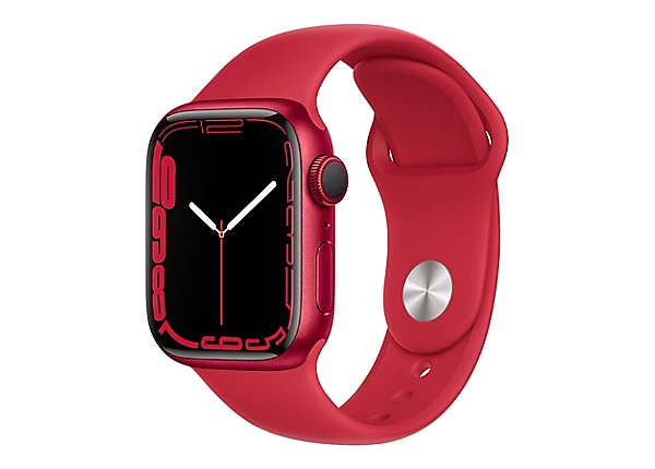 Apple Watch Series 7 (GPS) (PRODUCT) RED - red aluminum - smart watch with