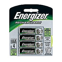 Energizer Rechargeable AA NIMH Batteries 4-Pack