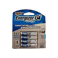 Energizer e2 AAA Lithium Photo Battery 4-Pack