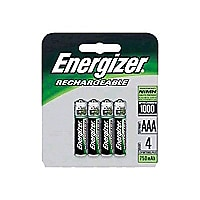 Energizer Rechargeable NiMH AAA Batteries 4-pack