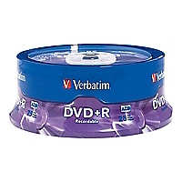Verbatim - DVD+R x 25 - 4.7 GB - storage media