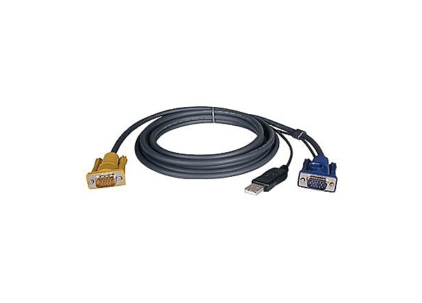 Tripp Lite KVM Switch Cable Kit 10ft USB 2-in-1 for B020 and B022 10'
