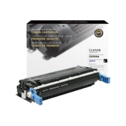 Clover Remanufactured Toner for HP C9720A (641A), Black, 9,000 page yield