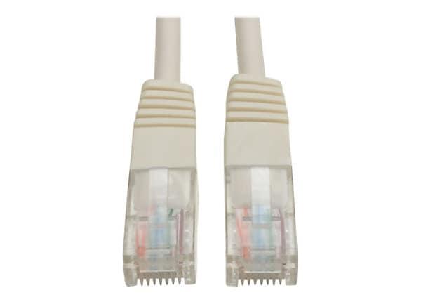 Tripp Lite 7ft Cat5e / Cat5 350MHz Molded Patch Cable RJ45 M/M White 7'