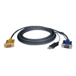 Tripp Lite KVM Switch Cable Kit 6ft USB 2-in-1 for B020 and B022 6'