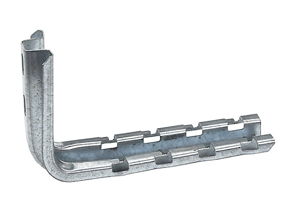 """Black Box Cable Tray Support Hardware L-Brackets, 1-Pack, 8"""""""