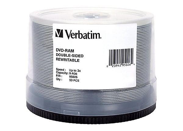 Verbatim DataLifePlus - DVD-RAM x 50 - 9.4 GB - storage media