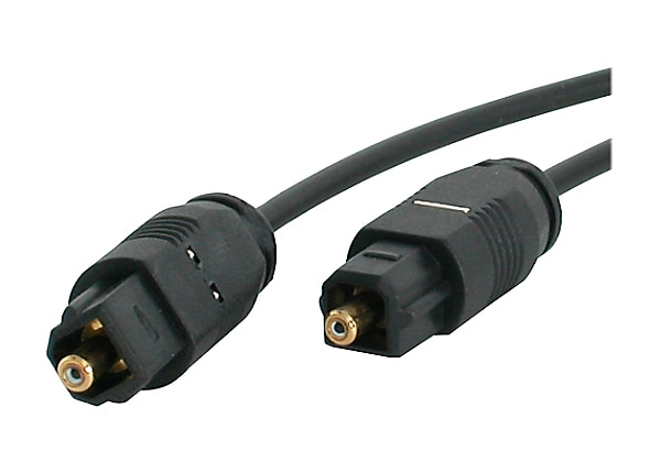 StarTech.com 10 ft Thin Digital Optical Audio Cable - Toslink Audio Cable