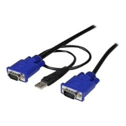 StarTech.com 10 ft Ultra Thin USB VGA 2-in-1 KVM Cable - USB VGA KVM Cable