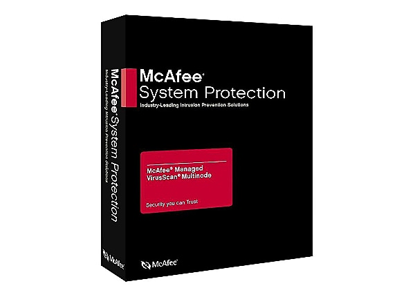 McAfee Managed VirusScan - subscription license (1 year) + 1st year PrimeSu