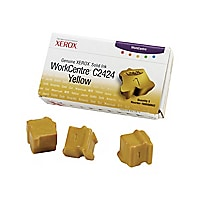 Xerox Workcentre C2424 Solid Ink Yellow (x3)