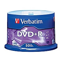 Verbatim - DVD+R x 50 - 4.7 Go - support de stockage
