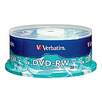 Verbatim - DVD-RW x 30 - 4.7 GB - storage media