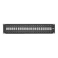 Leviton GigaMax 5e QuickPort Patch Panel - patch panel - 2U - 19""