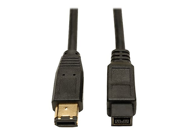 Tripp Lite 10ft IEEE 1394b FireWire 800 Gold Hi-speed Cable 9pin/6pin 10'