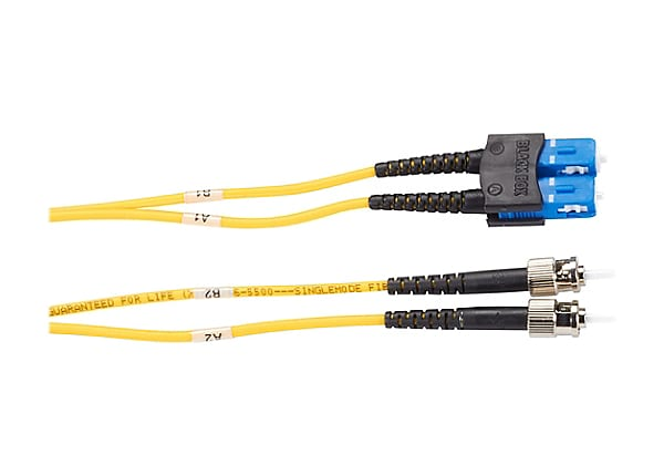 Black Box Premium 2M ST/SC Duplex Singlemode 9/125 Fiber Patch Cable 6ft