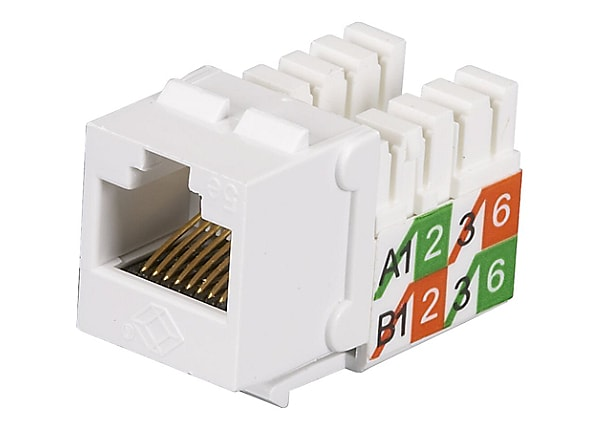 Black Box GigaBase2 CAT5e White RJ45 110 Keystone Jack ETL Verified