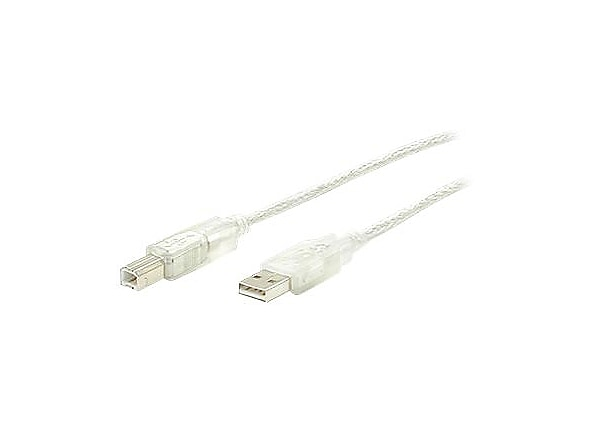 StarTech.com 6 ft Clear A to B USB 2.0 Cable - M/M - USB cable - 6 ft