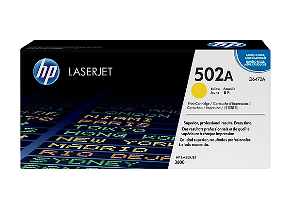 HP Color LaserJet Q6472A Yellow Toner Cartridge