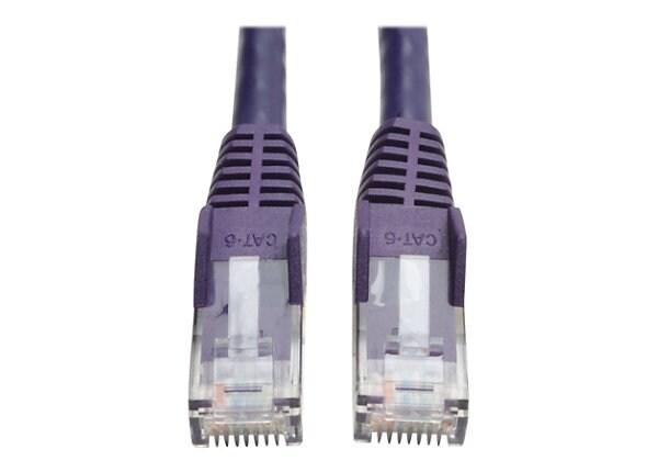Tripp Lite 14ft Cat6 Gigabit Snagless Molded Patch Cable RJ45 Purple 14'
