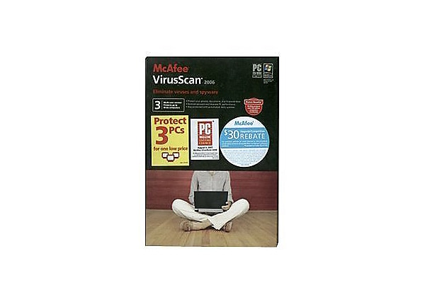 McAfee VirusScan 2006 (v. 10.0) - box pack - 3 users