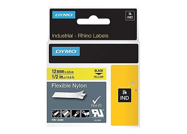 DYMO - flexible tape - 1 roll(s) - Roll (1.2 cm x 3.5 m)