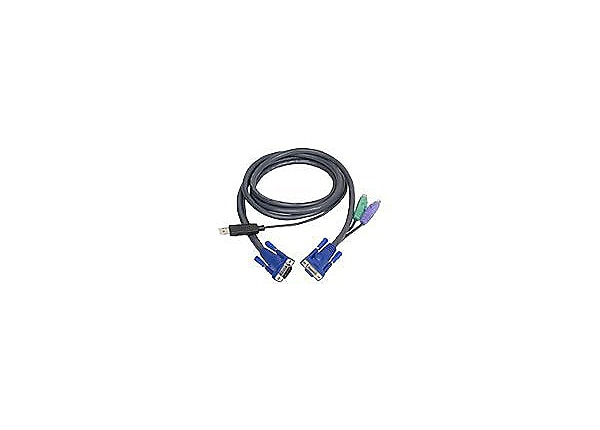 ATEN Intelligent KVM Cable 2L5502UP-keyboard/video/mouse (KVM) cable-6ft