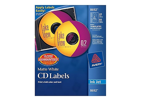 Avery Print-To-The-Edge - CD labels kit