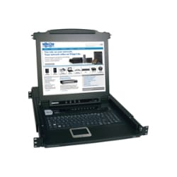 "Tripp Lite Rack Console KVM Switch 8-Port, 17"" LCD"