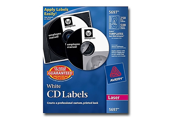 avery cd  dvd labels - cd  dvd label kit - 5697