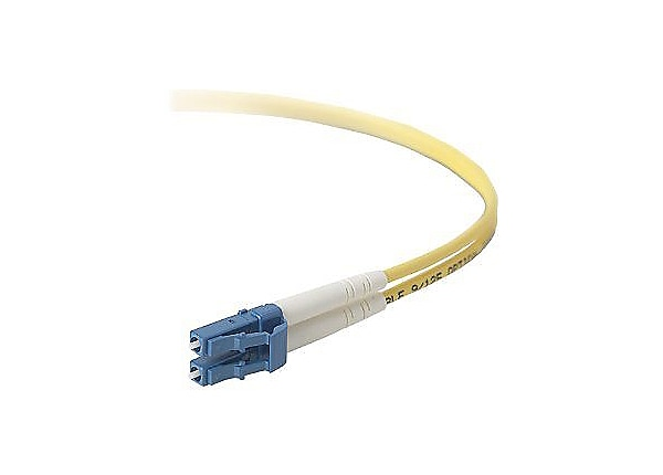 Belkin 3M Duplex Singlemode Fiber 8.3/125 OS1 Patch Cable LC/LC 10ft