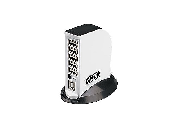 Tripp Lite 7-Port USB 2.0 Hi-Speed Hub Compact Mobile Tower