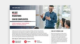 PDF OPENS IN NEW WINDOW: Read about CDW's migration and planning services available for AWS