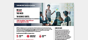PDF OPENS IN NEW WINDOW: Read about CDW's cost management services available for AWS