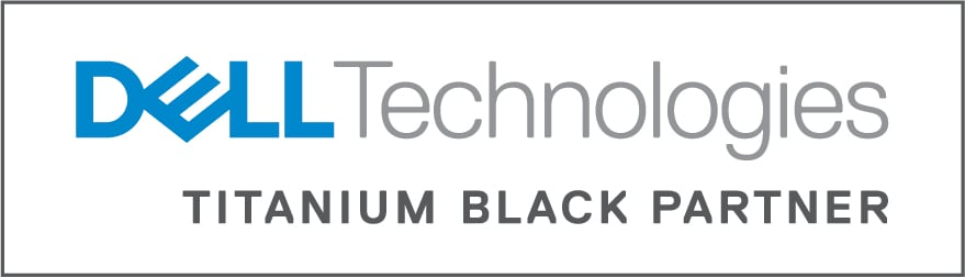 Logo de Dell Titanium Black Partner