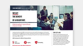 PDF OPENS IN NEW WINDOW: Get a jumpstart on your AWS cloud journey with CDW services